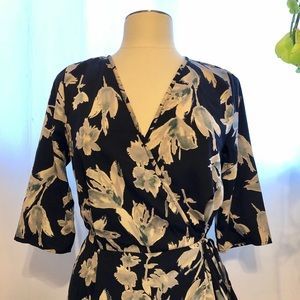 NWT Side tie floral blouse